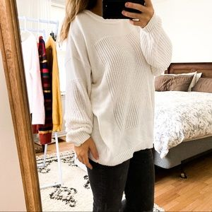 Vintage White oversized knit Sweater